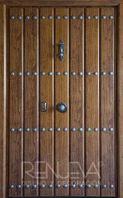 Puertas de entrada metalicas de doble hoja para exteriores - Puertas de entrada metalicas precios ...