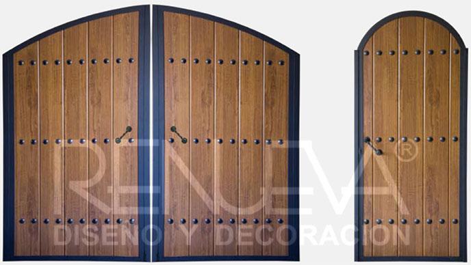 Portones y cancelas metalicas para peatones y veh culos for Puertas de madera para jardin