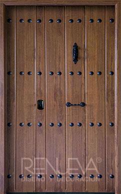 Puertas de entrada metalicas de doble hoja para exteriores puertas de exterior metalicas de dos - Puertas de entrada metalicas precios ...
