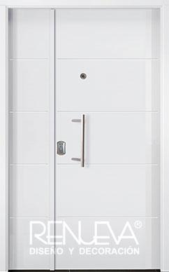 Puertas de entrada metalicas de doble hoja para exteriores for Modelos de puertas metalicas para exteriores