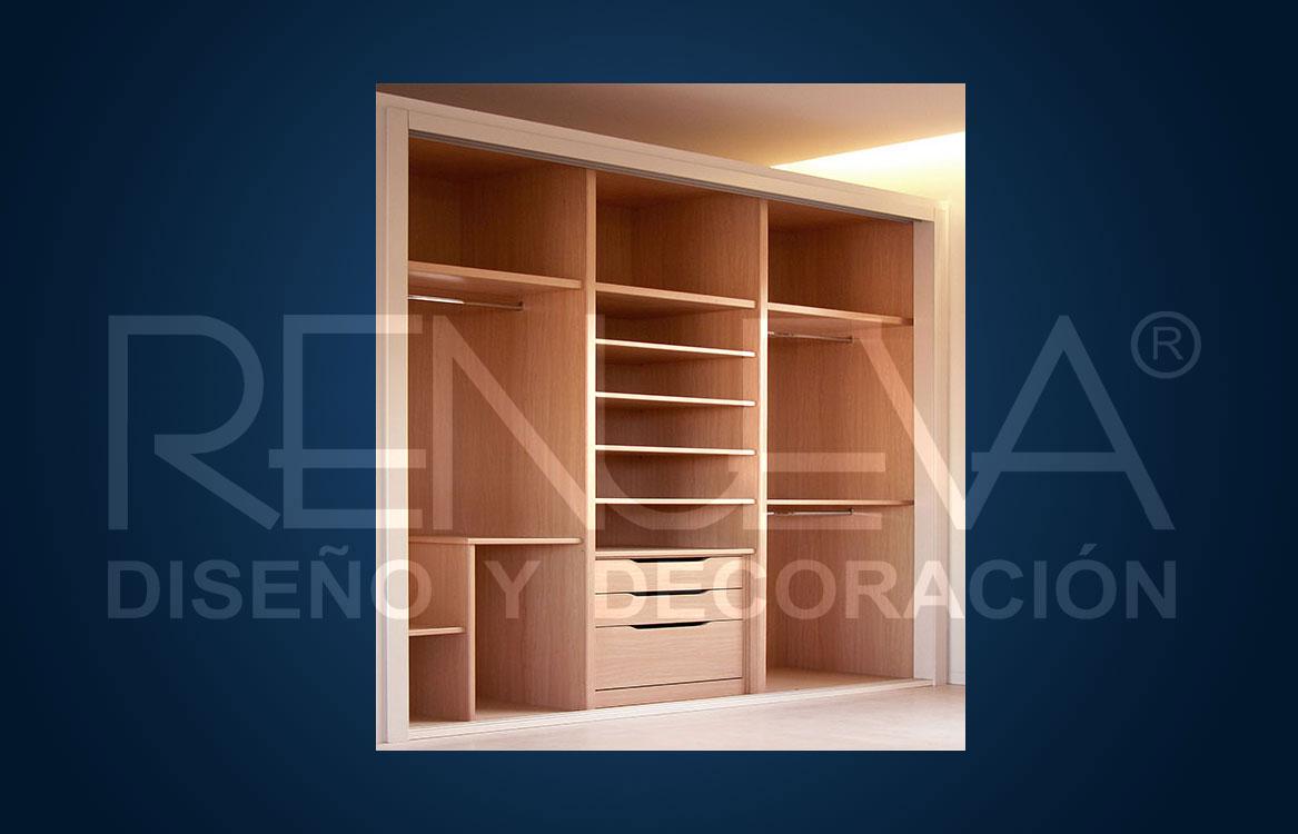 Interior de armario tres modulos con cajonera modelo u ero - Cajonera interior armario ...