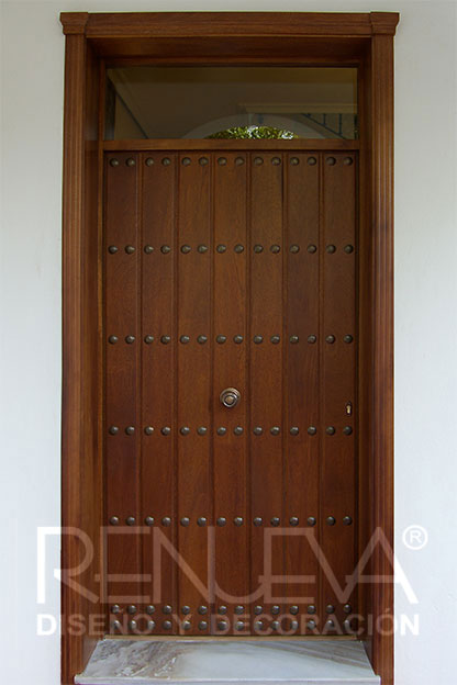 Puertas de entrada de madera maciza puertas exterior - Puertas exterior malaga ...