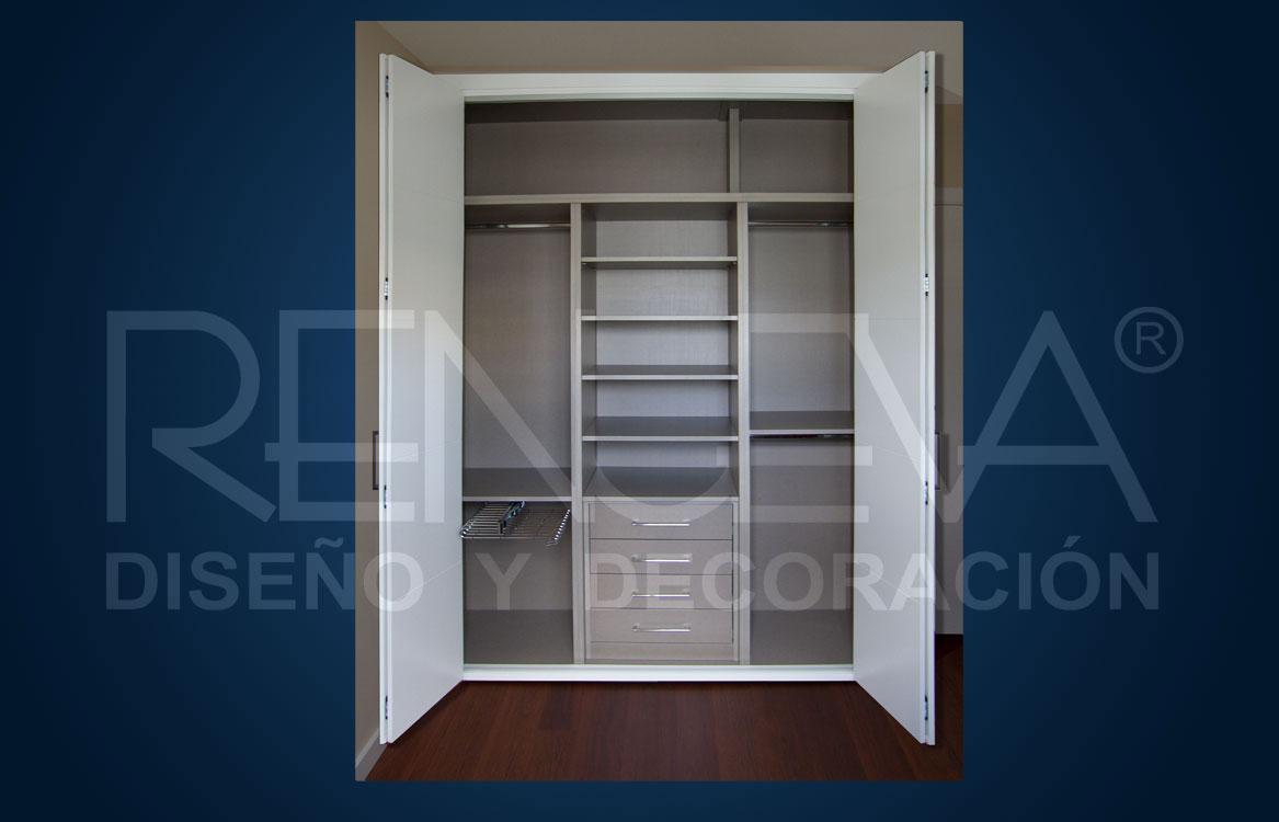 Interior de armario armario con cajonera modelo tirador for Cajoneras para interior de armarios