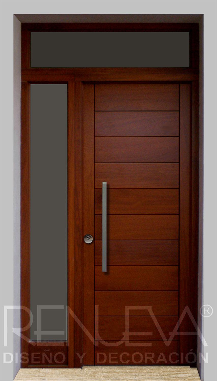 Puertas de entrada de madera modernas puertas de entrada for Puertas de exterior con cristal