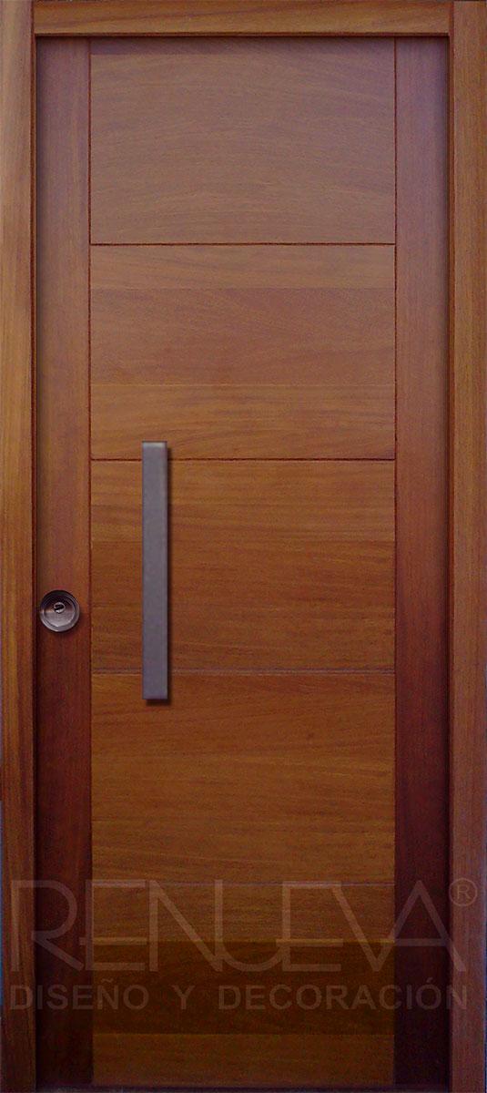 Puertas de entrada de madera de iroko puertas de entrada for Puertas modernas para dormitorios