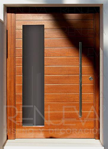 Puertas de entrada de madera maciza puertas exterior for Puertas madera exterior precios