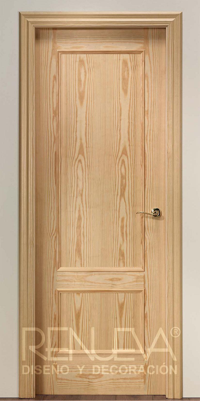 Oferta puerta modelo f2 madera de pino barnizada for Puertas de madera en oferta