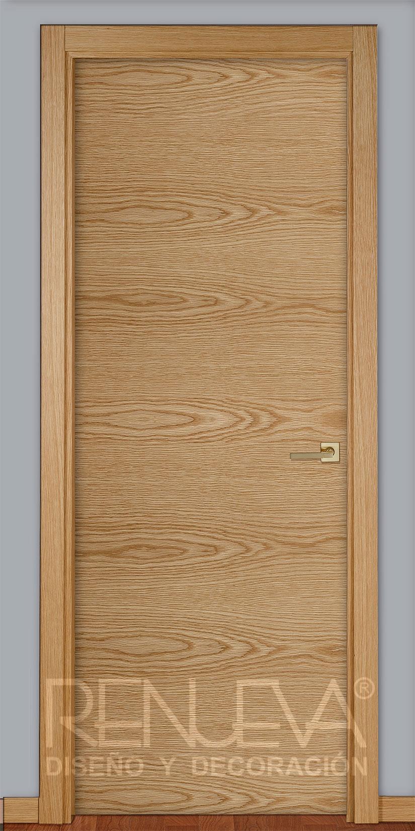 Oferta puerta madera de roble barnizada modelo rlt for Puerta madera roble