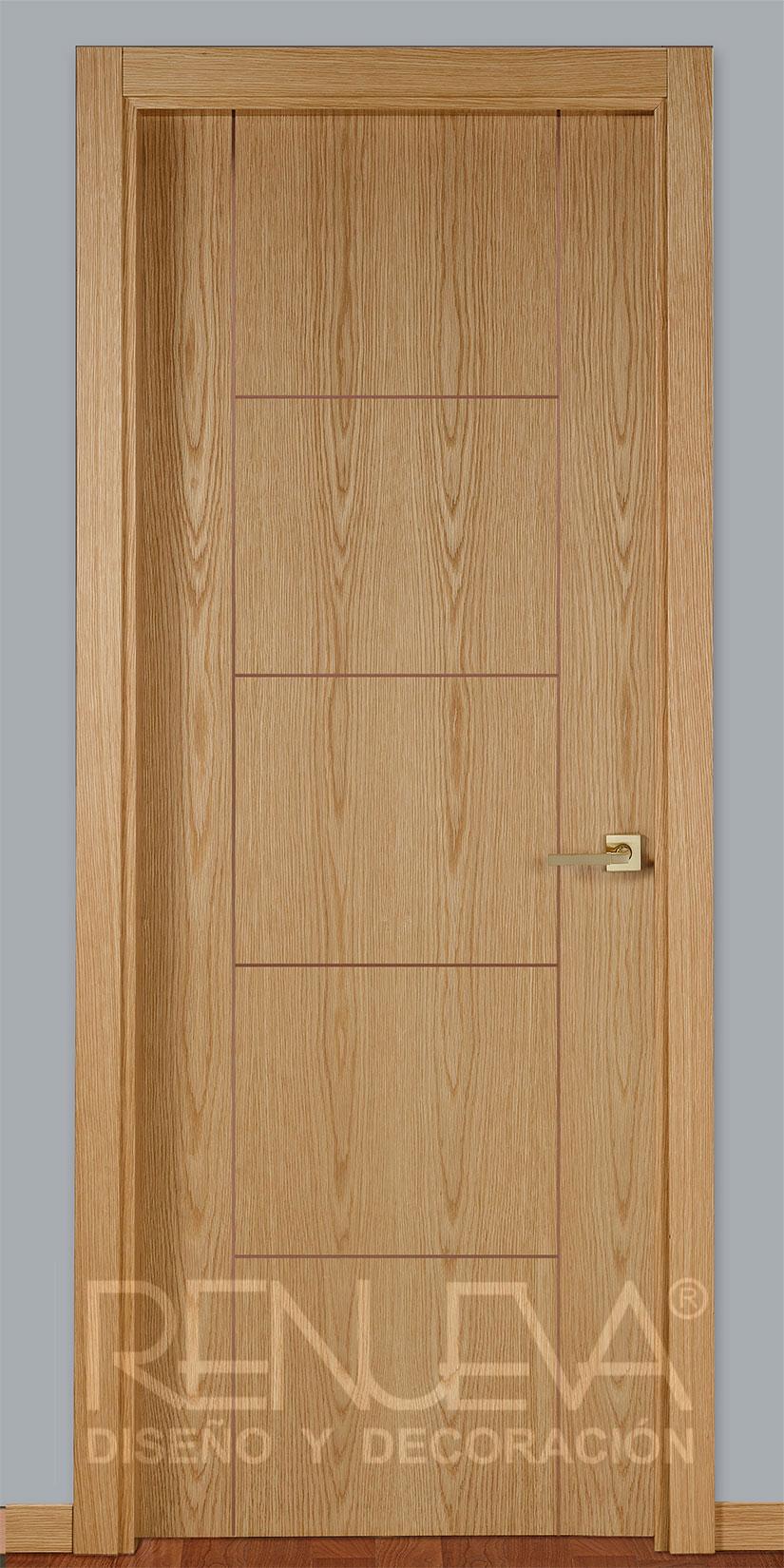Oferta puerta madera de roble barnizada modelo rp5 for Puerta madera roble