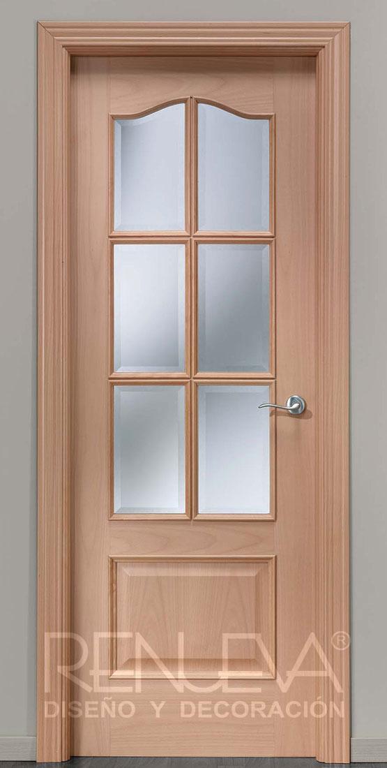 Puerta uniarte modelo 32 6vm madera de haya vaporizada for Decor 1 32