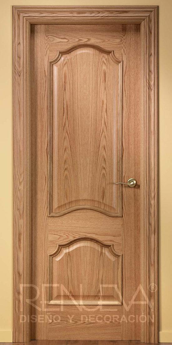 Puerta uniarte modelo 702m madera de roble for Modelos de puertas para dormitorios