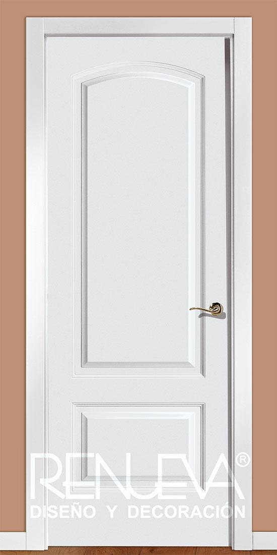 Puerta modelo lr22 lacada en blanco for Puertas blancas para casa