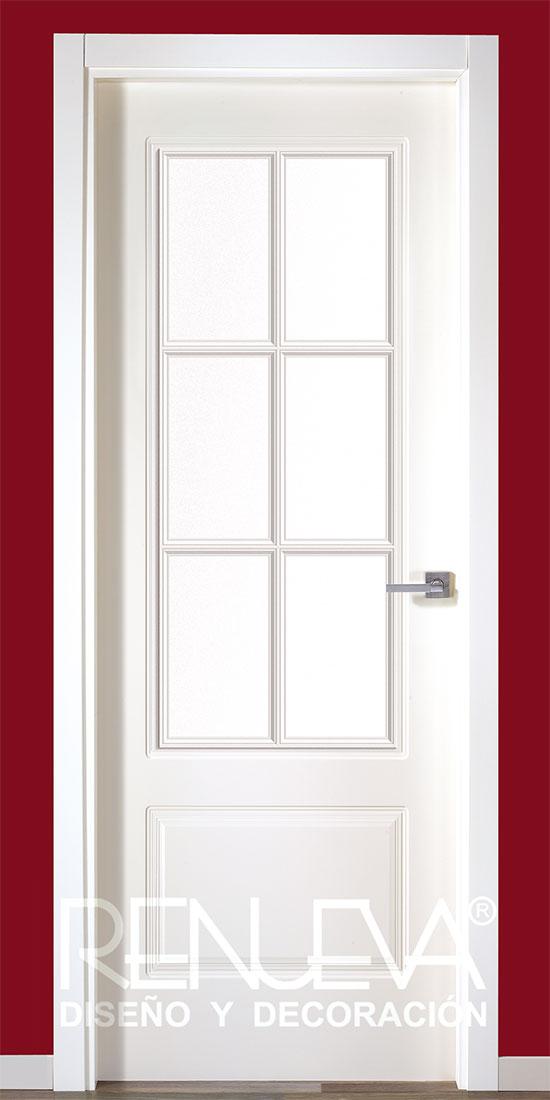 Puerta modelo lrs12 6v lacada en blanco - Puerta lacada en blanco ...