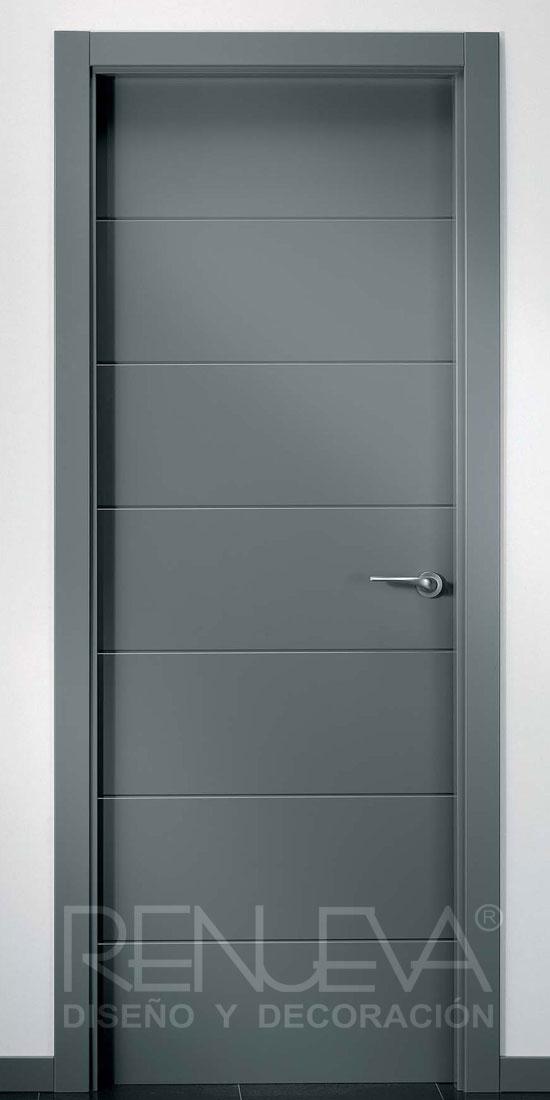 puerta modelo lrt7 lacada color gris