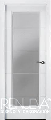 Puertas modernas puertas lacadas blancas puertas de madera - Puertas lacadas blancas ...